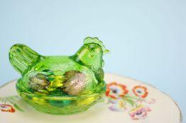 Green Easter chicken